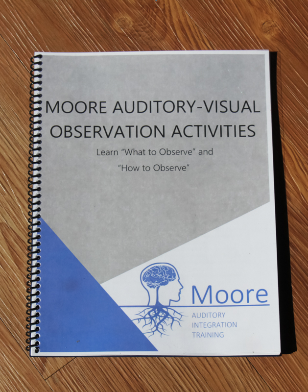 cover page of moore auditory observation booklet