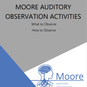 cover page of auditory observation activities booklet