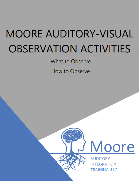 cover page of moore auditory-visual observation activities