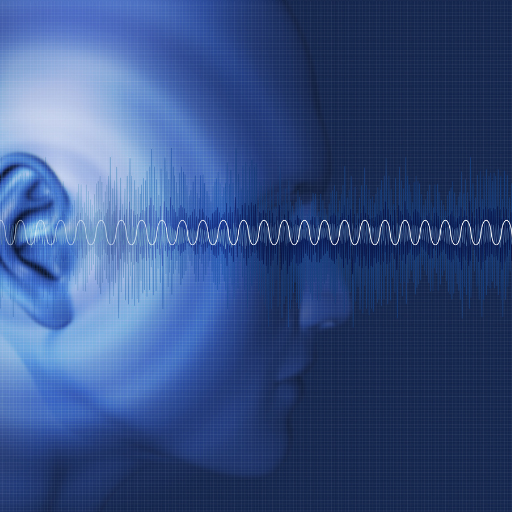 sound waves traveling to the ear