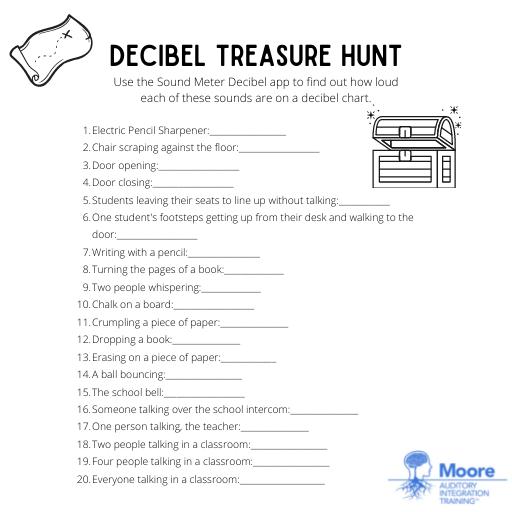 Decibel Treasure Hunt worksheet