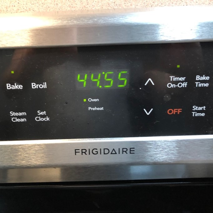 kitchen time set to 45 minutes